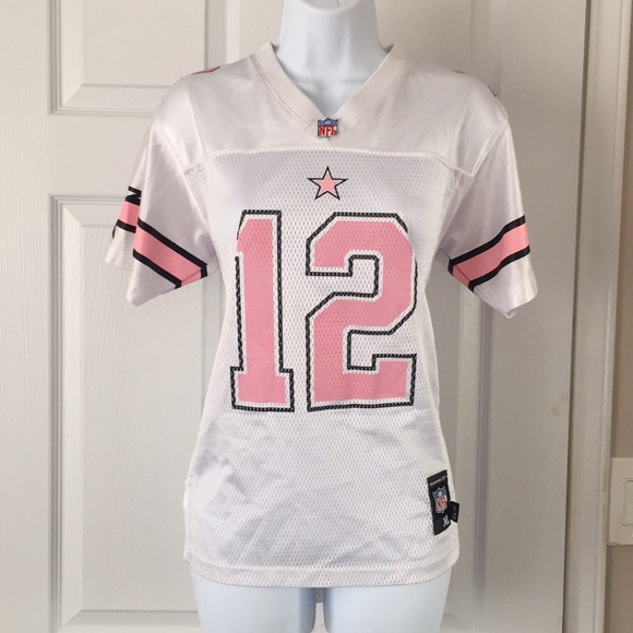 white and pink dallas cowboys jerseys